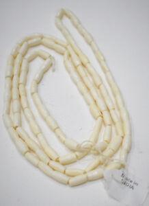 Beads White Small Bone Tube Beads India 12mm