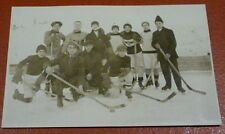 Postcard Feuille D'erable Hockey Team Photo