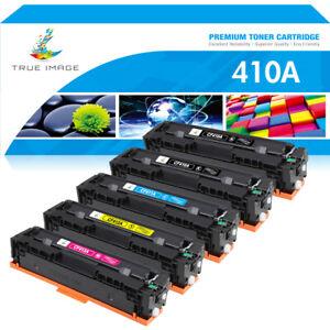 5PK Color CF410A Toner Fits for HP 410A LaserJet M452dw M477fdw M477fnw M377dw