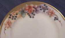 Hand Painted Whiteware Dinner Set for 8 Artist Signed Floral Berries M Paddock +