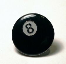 Metal Enamel Pin Badge Brooch Pool Ball Poole Play Black 8 Cue Pool Table League
