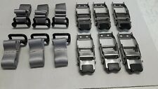 6x TAUTLINER 800 KG BUCKLES & 6-SILVER COAMING RAIL (RAVE) STRAPS 6 PK FREE POST