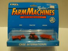 ERTL Farm Machines Micro Case International Tractor, Disc, Wagon Set #461 C1-02