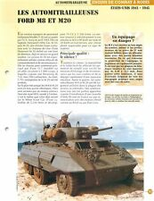 Tank Char Panzer ARMORED CAR FORD M 8 M 20 US Army USA WWII 2 & FICHE FRANCE