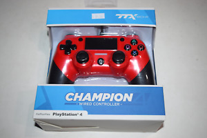 Champion Wired Controller Red Playstation 4 PS4 Console Game System New in Box