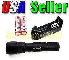 UltraFire WF-502B CREE XM-L T6 LED Flashlight 2x Rechargeable Batt & Charger