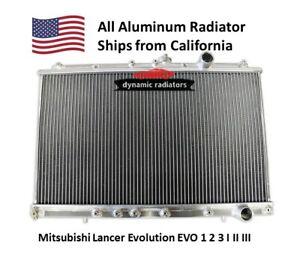 Clearance All Aluminum Radiator Mitsubishi Lancer Evolution EVO 1 2 3(MT)