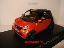 NOREV SMART FORTWO CABRIO ORANGE / BLACK GLOSS  2015 au 1/43°