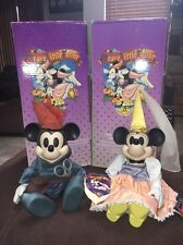 Disney Brave Little Tailor Mickey & Minnie Mouse Musical Porcelain Dolls