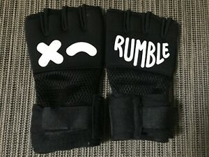 Rumble Hand Wraps Gloves Training Workout Black Small/Medium