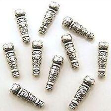 10 Metallperlen Zepter (A0688) ca. 23x7mm
