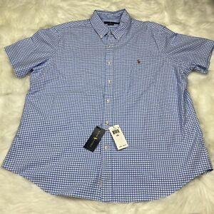 New Ralph Lauren Men's 2XL XXL Classic Fit Button Down Short Sleeve Shirt