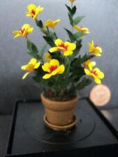 DOLLHOUSE FLOWERS- HANDMADE- YELLOW FLORAL