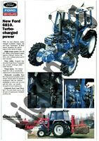 A3 New Holland Ford 7810 7610 6810 Tractor Poster Sales Brochure Advert Britains