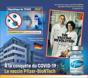 Chad 2021 MNH Medical Stamps Corona Pfizer BioNTech Vaccines 1v S/S