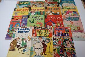 Silver & Bronze Age Funny Book Lot Bugs Bunny Laurel Hardy #1 Jetsons Yogi Bear