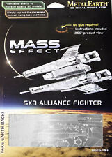 Fascinations Mass Effect Metal Earth 3D Laser Cut Model Kit SX3 Alliance Fighter