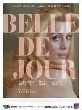 Affiche Pliée 40x60cm BELLE DE JOUR (1967) Buñuel Catherine Deneuve R2017 TB