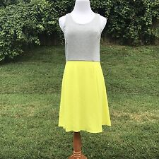 Apt 9 Dress XS Skater Tank Flowy Skirt Flare Neon Zipper New Kohls Modest Knee