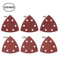 120x 90mm Feuilles de ponçage Delta Pad Sander Palm Sand Papier Noir et Decker