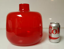 Italian Glass Vase Ichendorf Red Mid Century Milan or Germany