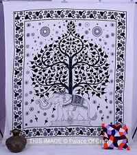 Indian Elephant Tree Of Life Beach Throw Gypsy Bedspread Wall Hanging Tapestry