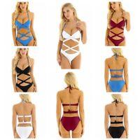 Sexy Women's Bikini Set Push-up Padded Bra Swimsuit Swimwear Wrapped Criss Cross