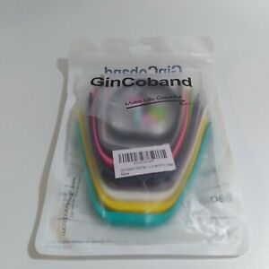 GinCoband 10 Pc Size Large Multicolor Fitbit Band