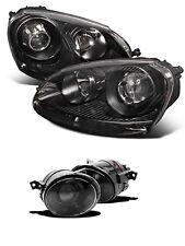 VW JETTA GTI MK5 06-09 Black Headlights and Fog Lights Glass Projector 4 pieces