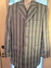 Vintage Vitaliano Mens 3-Piece BluePolyester  Suit 42L 35W