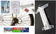 .2x Bike Bicycle Wheel Spoke Light Waterproof 16 LED 32 flash cool patterns AU