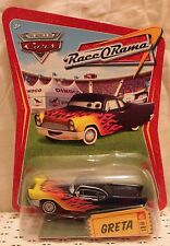 GRETA Disney Pixar Cars 1:55 Die Cast Race O Rama Bruchman Salmon Impala NEW
