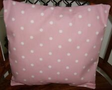Clarke and Clarke Meadow Pink Rose SET OF 2 Cushion Covers Size 16 inch by 16
