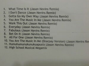 High School Musical 2 - Non Stop Party Edition CDr PROMO RARE & MINT MEGAMIX