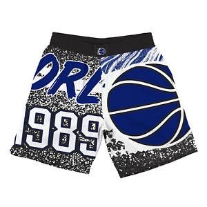 Mitchell & Ness Black NBA Oralndo Magic Jumbotron Shorts