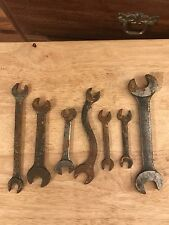 Vintage Lot Of 7 Different Sizes Wrenches Tools