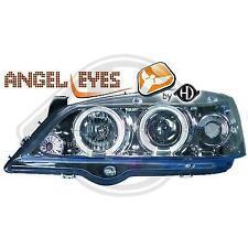 1805580 , Paire de Feux Phares angel eyes chrome pour OPEL Astra G de 1997 a 20