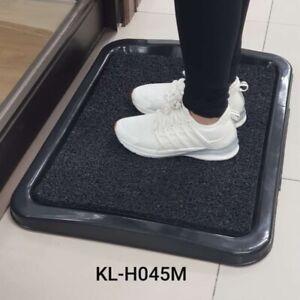 Sanitizing Disinfection Door Mat Foot Bath with Plastic Tray (random mat color)