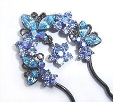 Luxus HAARNADEL Haarpin Oktanten blau Haarspange +++ VIEL MEHR IM SHOP !