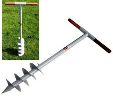 "1M Fence Post Auger Hole Drill Digger Manual Tool 160mm 6"" Bore 1000mm New"