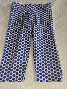 "Crewcuts girls sz. 8 blue polka dot ""capri legging"" pants. Cute, nt. desc."