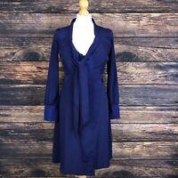 ANAMI & JANINE Blue Wrap Dress Size XS