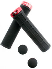 Velo//Orbea Mountain Bicycle Handlebar Kraton Grips Black//Red NEW w// End Plugs