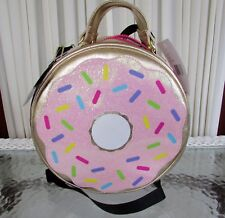 Betsey Johnson Kitsch Donut Large Insulated Lunch Tote Bag Crossbody Diaper Nwt