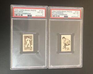 1948 Topps Sugar Ray Robinson Boxing Champions - Magic Photo PSA 4 & Max Baer 🔥