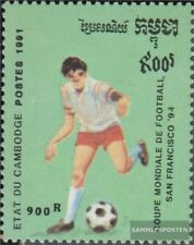 Cambodge 1203 (complète edition) neuf avec gomme originale 1991 Football-WM 1994