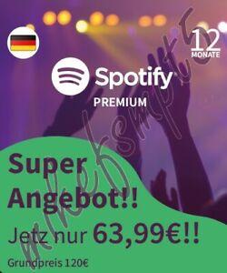 Spotify Premium für 12 Monate - Gutscheinkarte