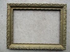 Antique Gold Painted Gesso Wood Picture Frame fits 8-1/2 x 11-1/2