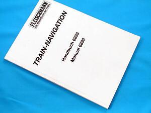 Fleischmann 6893 Train Navigation Manual Inglese Tedesco modellismo