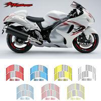 """MOTORCYCLE RIM """"17 STRIPES WHEEL DECALS STICKERS FOR SUZUKI HAYABUSA GSX1300R"""